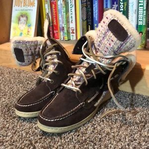 SPERRY-'Fair Isle' Fur Lined Mid-Calf Boat Boots